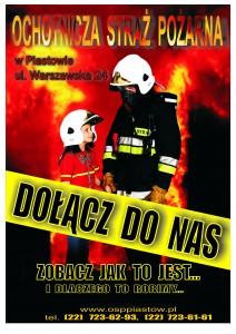 Plakat OSP Piastów - Dołącz donas