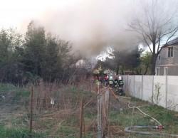 Pożar pustostanu przy ul. W. Witosa w Piastowie