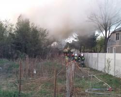 Pożar pustostanu przy ul.W. Witosa wPiastowie